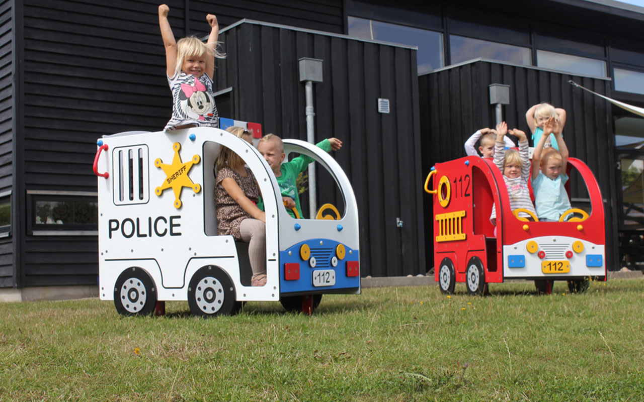 Polizia e Pompieri - Attrezzature Parco Giochi