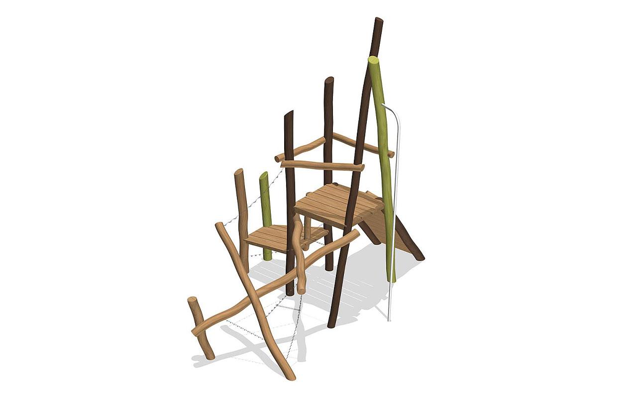 CLIMBING GARDEN - Strutture per Parchi Giochi in Legno di Robinia - Strutture per Parchi Giochi in Legno di Robinia