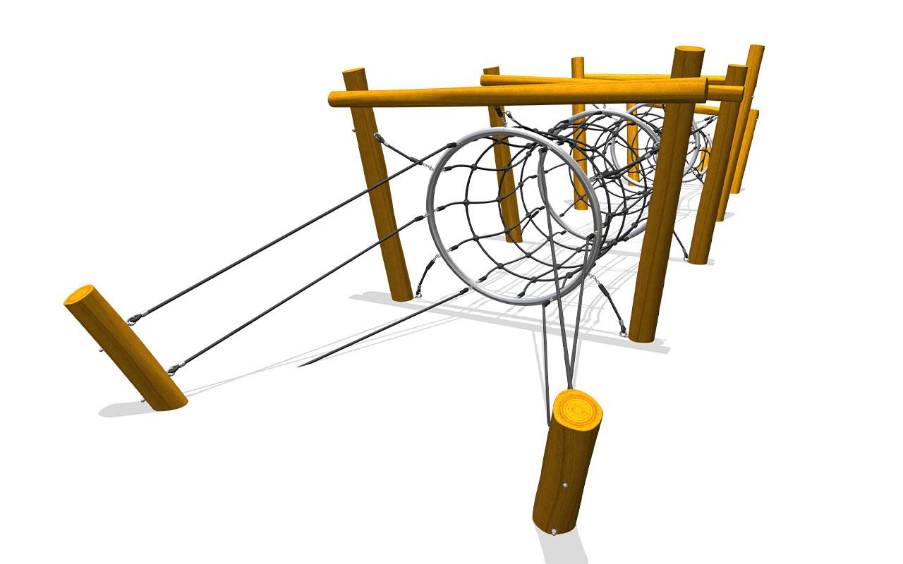 BOER TUNNEL - Strutture per Parchi Giochi in Legno di Robinia