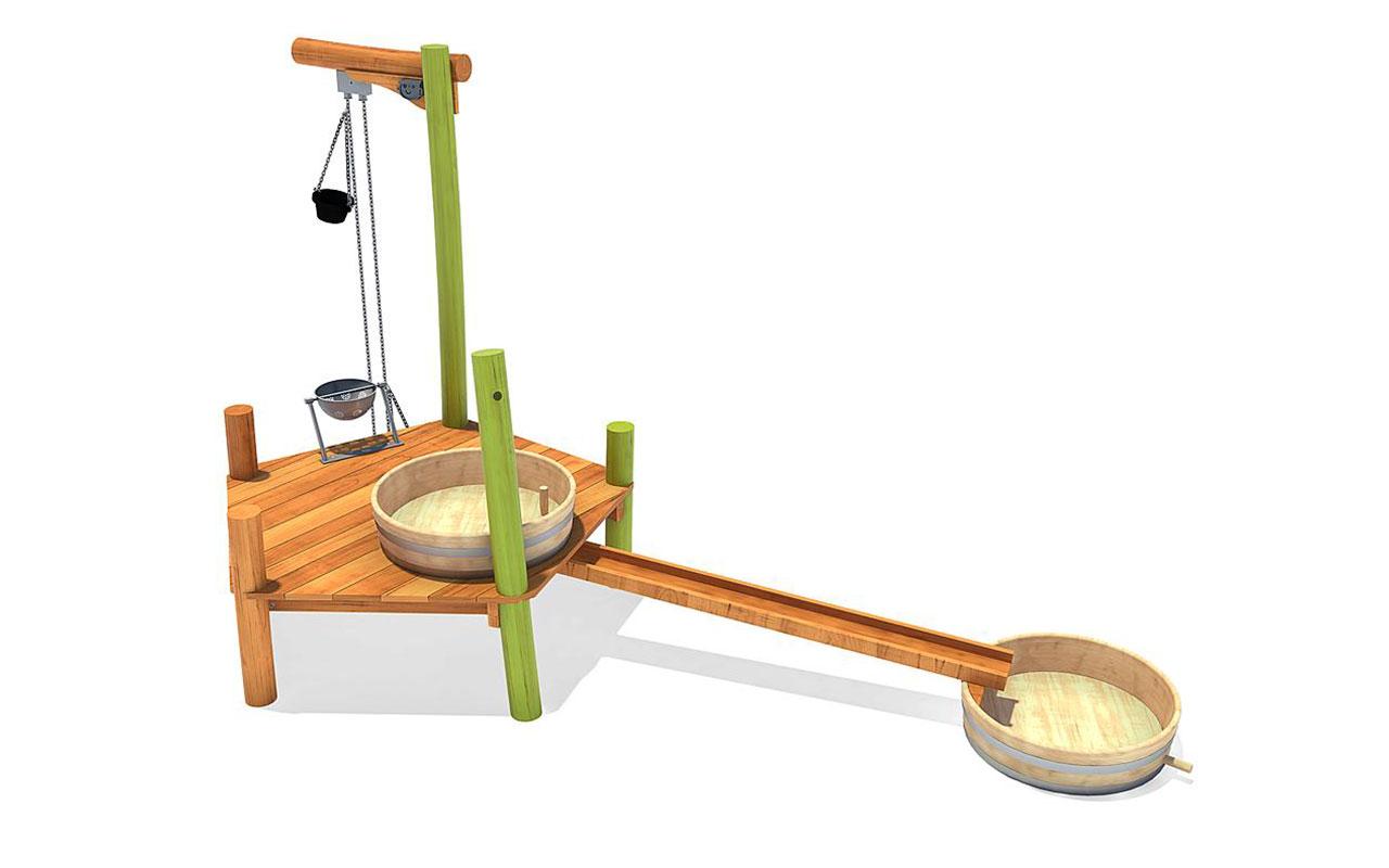 FARLON - Sabbiere e Giochi d'acqua in Legno di Robinia - Sabbiere e Giochi d'acqua in Legno di Robinia