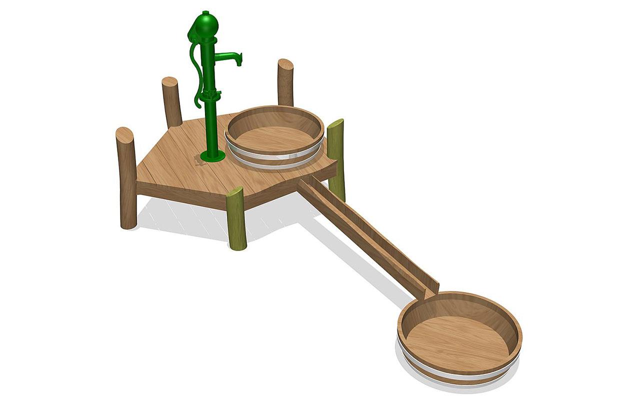 NAYADA - Sabbiere e Giochi d'acqua in Legno di Robinia
