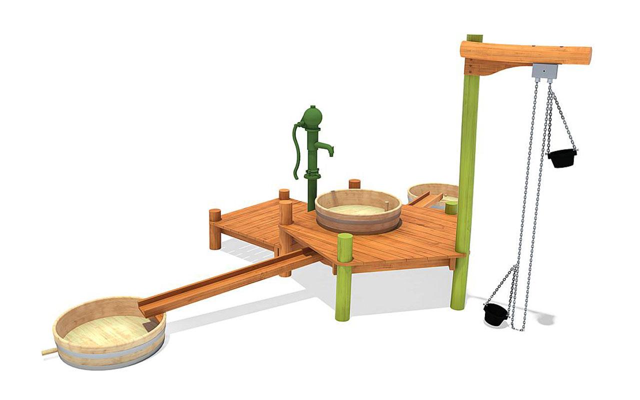 ARLO - Sabbiere e Giochi d'acqua in Legno di Robinia