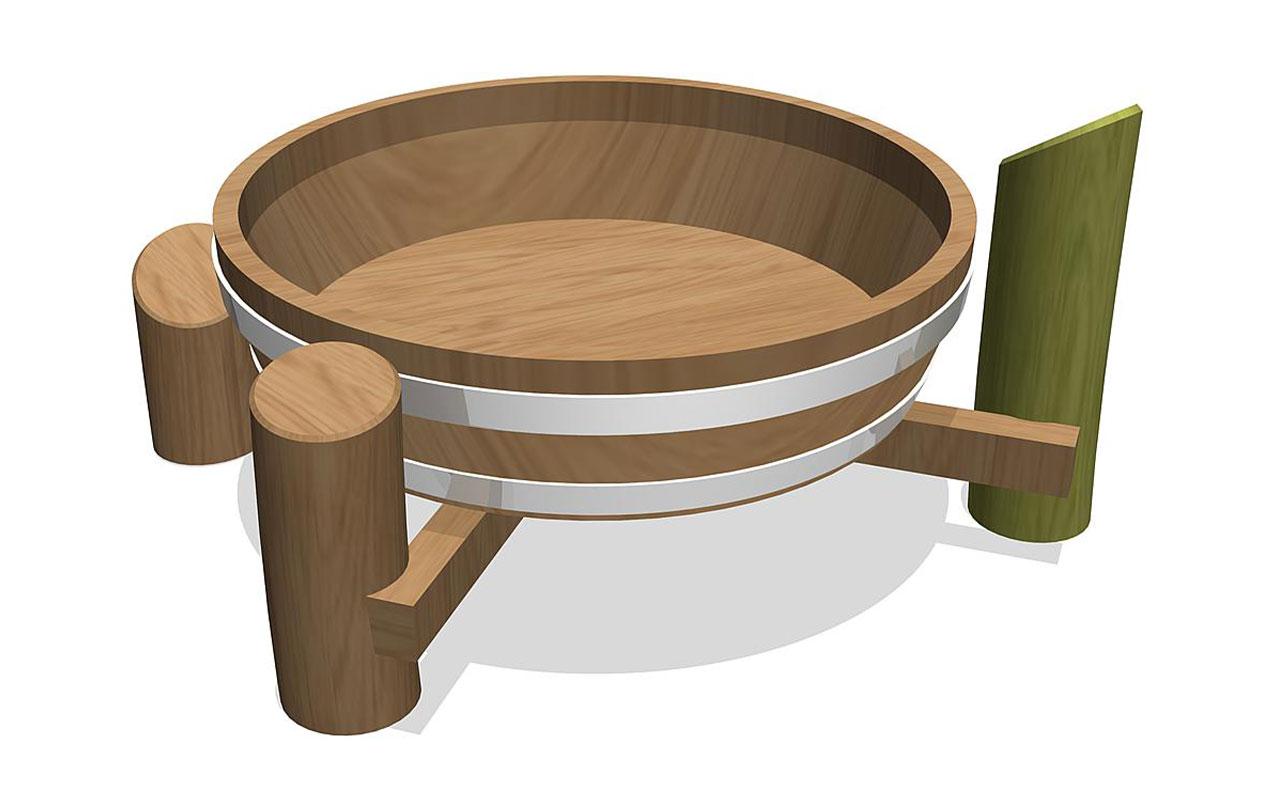 TIMOR - Sabbiere e Giochi d'acqua in Legno di Robinia