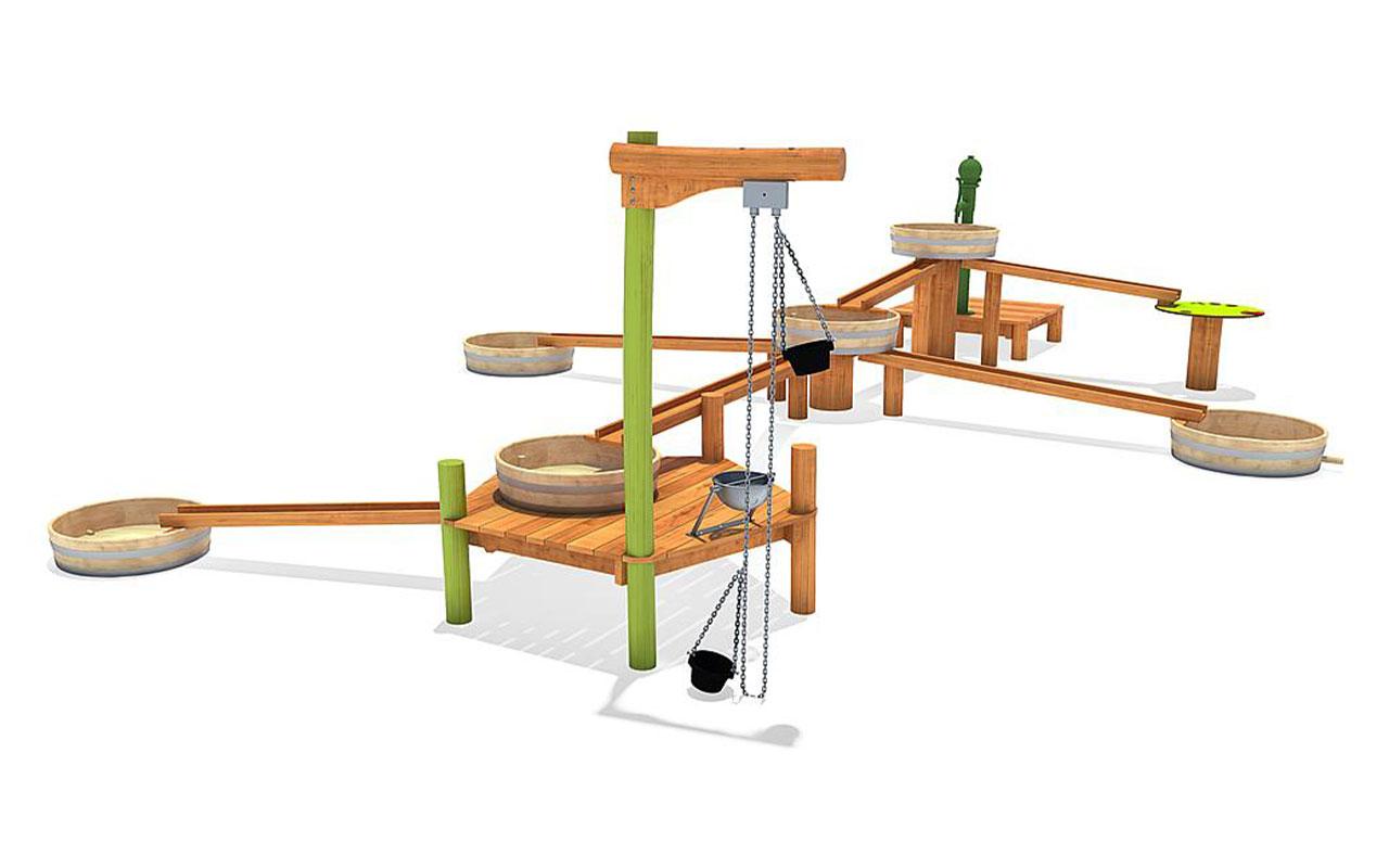 Albida - Sabbiere e Giochi d'acqua in Legno di Robinia