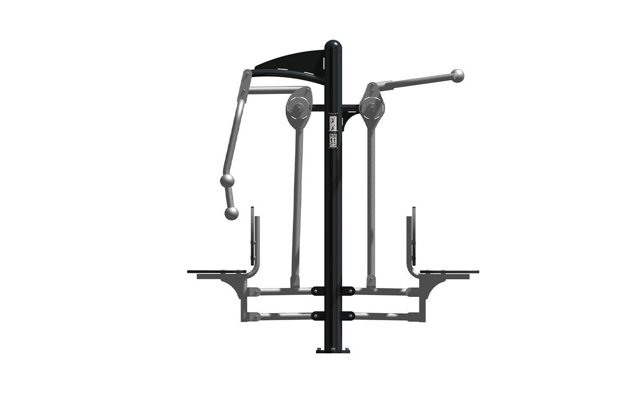 LAT PULL CHEST PRESS - Fitness da Esterno - Fitness da Esterno