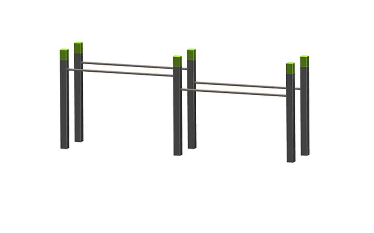 DOUBLE PARALLEL BARS - DOUBLE PARALLEL BARS - Palestra all'Aperto - Palestra all'Aperto