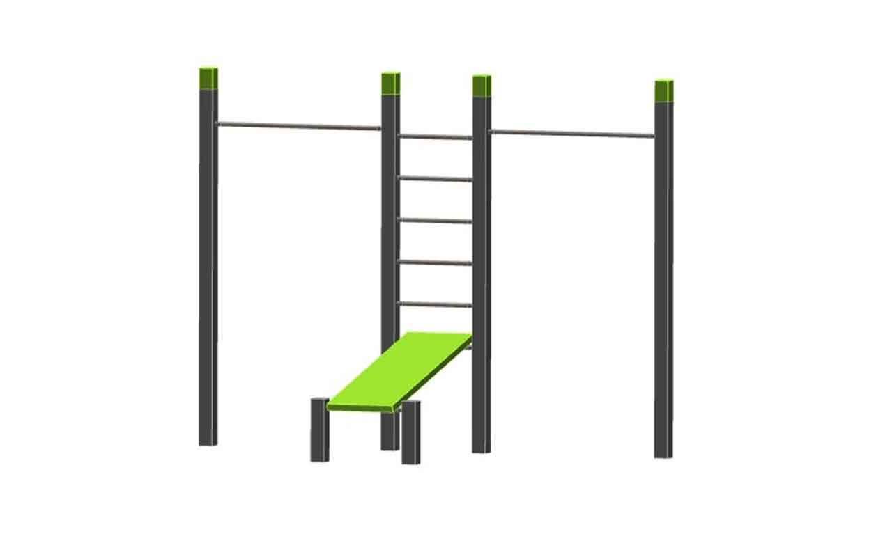 PULL UP DOUBLE - BENCH - MINI WALL - Palestra all'Aperto