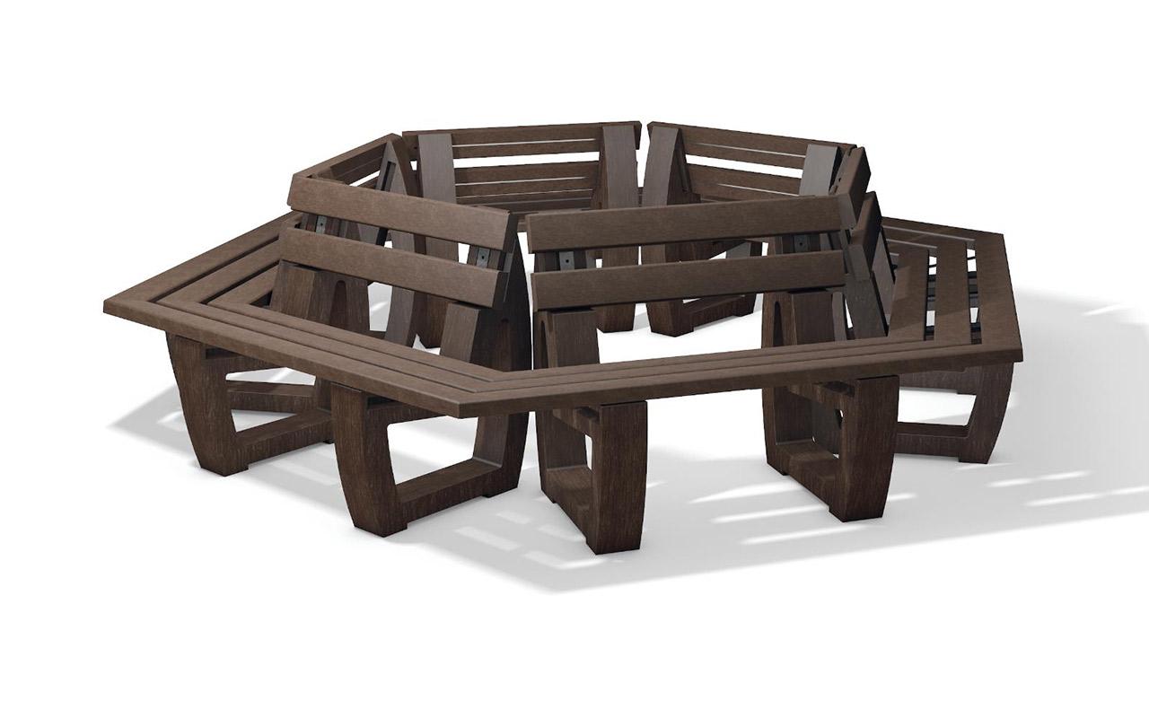 GATTON ROUND BENCH - Panchine in Plastica Riciclata
