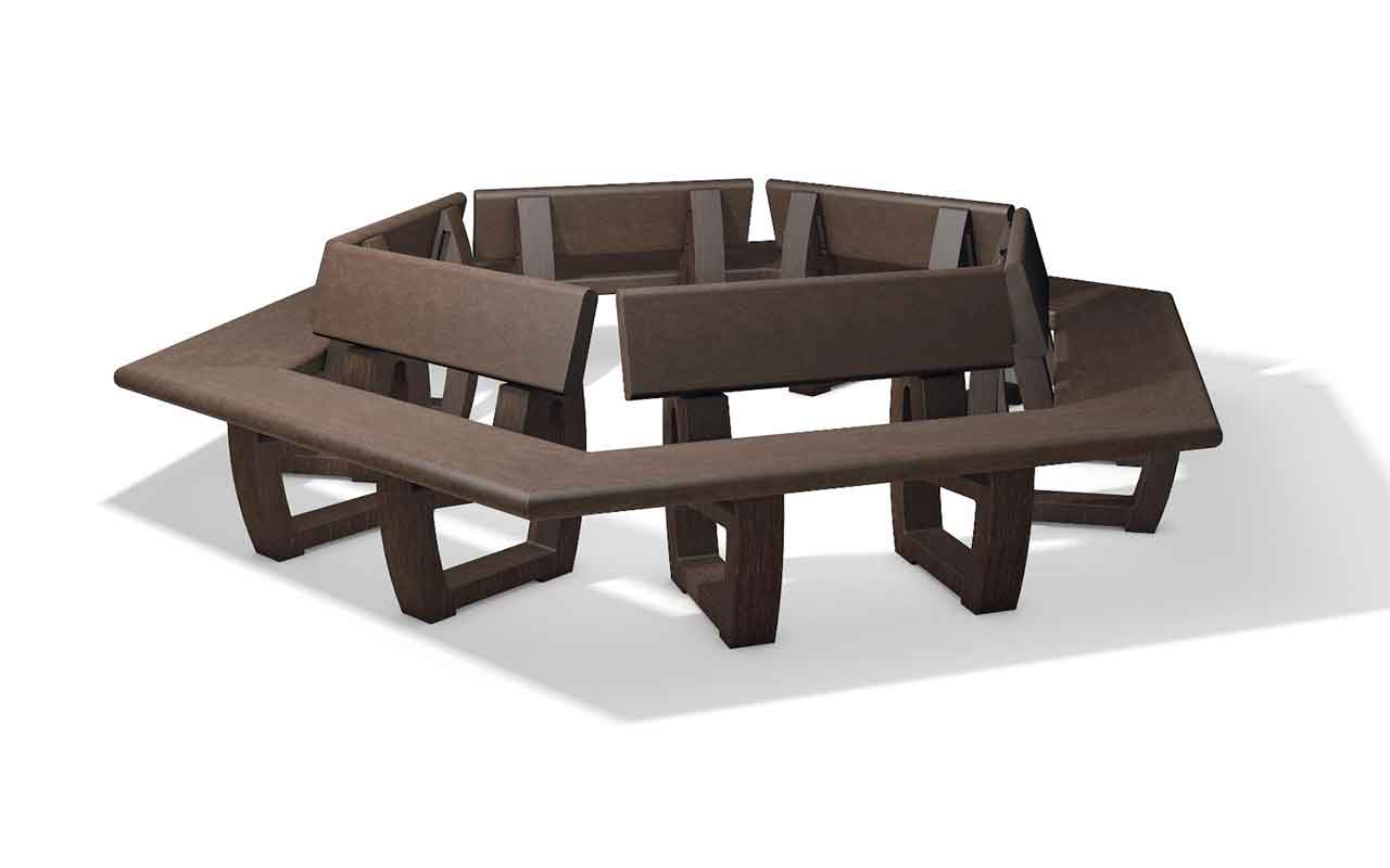 Turon round bench panchine in plastica riciclata non for Panchine in plastica riciclata