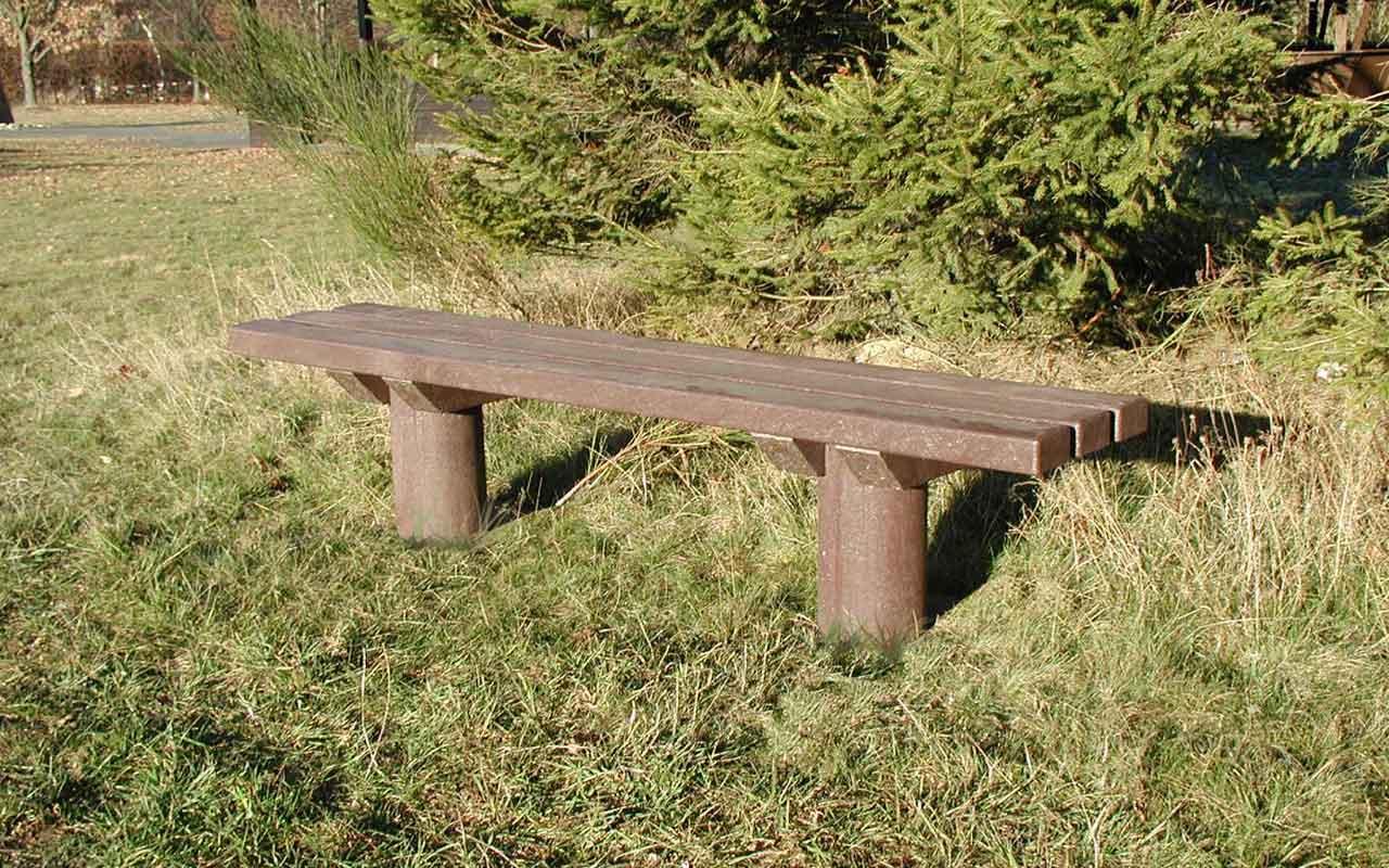 Panchina Taunus Forrest senza schienale - Panchine in Plastica Riciclata