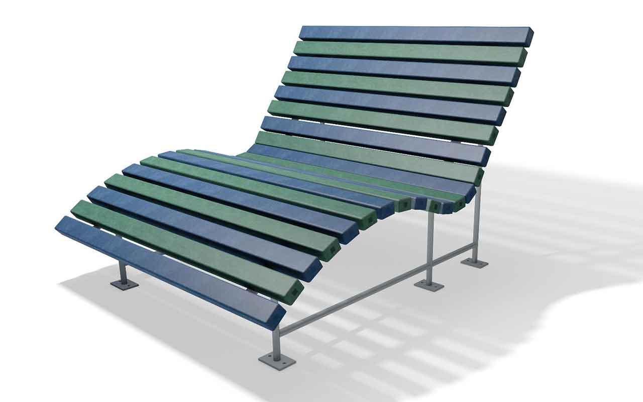 ELDORADO SUN LOUNGER - ELDORADO SUN LOUNGER - Panchine in Plastica Riciclata - Panchine in Plastica Riciclata
