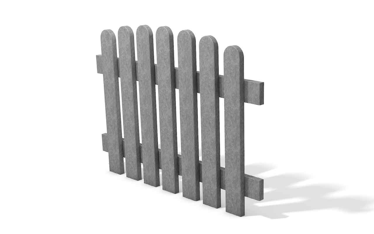 Picket Panel grigio - Staccionata in Plastica Riciclata