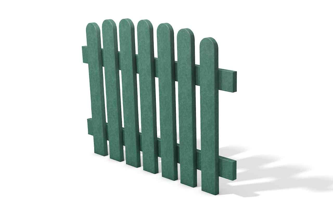 Picket Panel verde - Staccionata in Plastica Riciclata