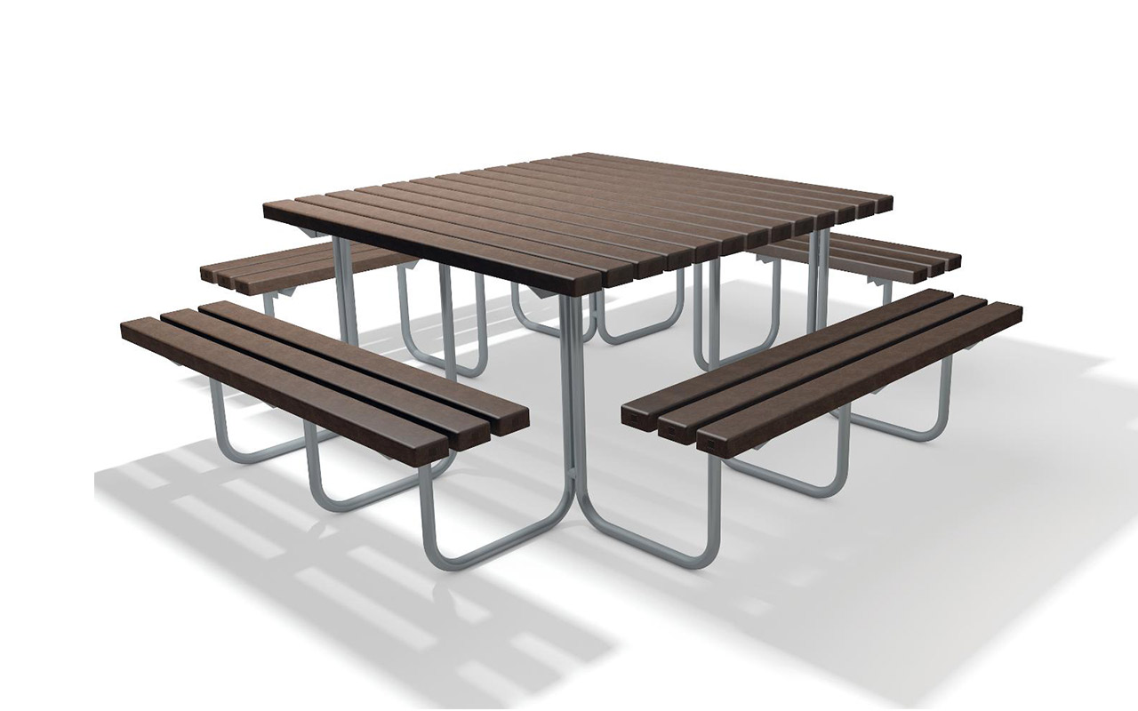 STELVIO SET - STELVIO SET - Tavoli/Panche in Plastica Riciclata - Tavoli/Panche in Plastica Riciclata