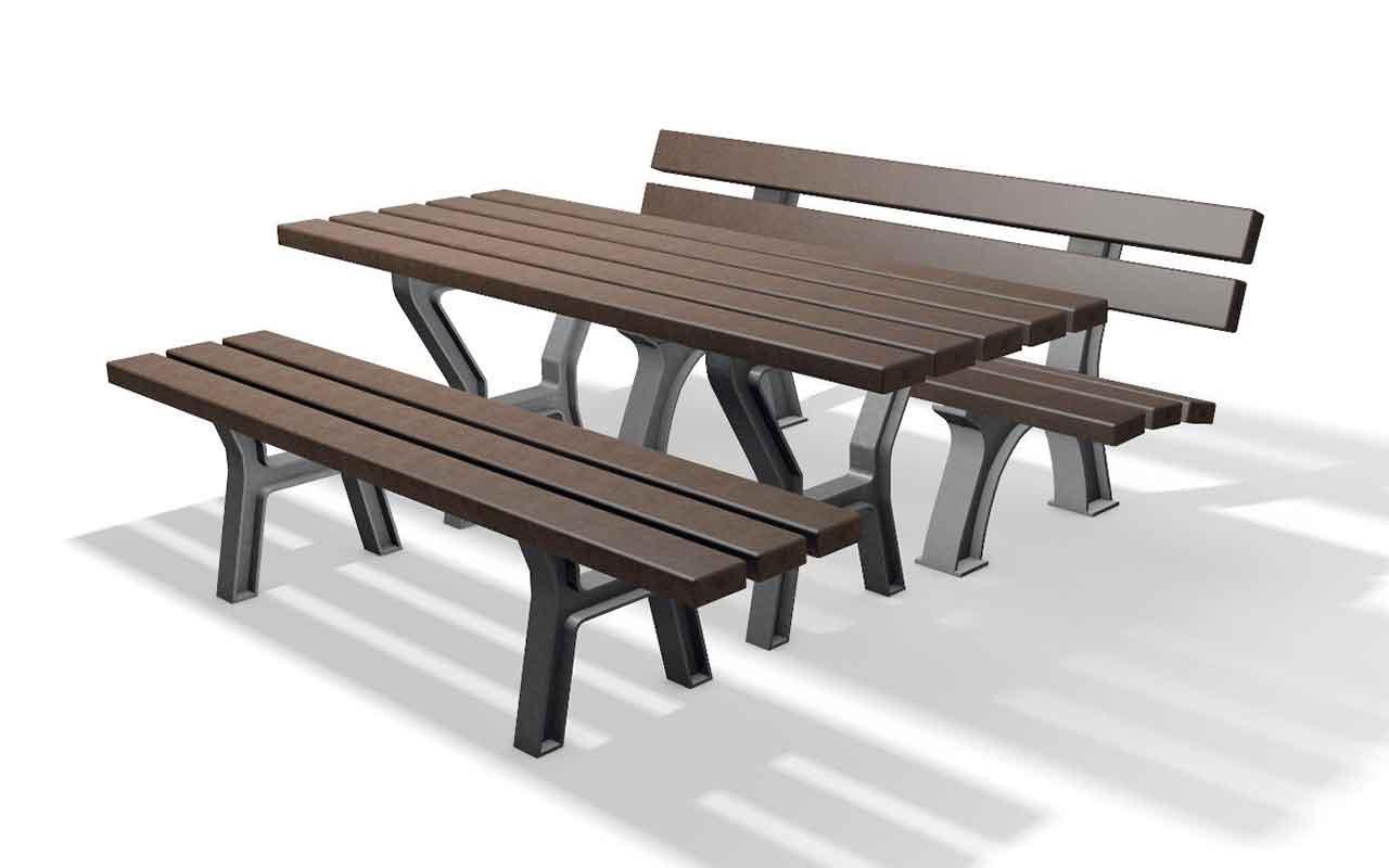 PROVENCE SET - Tavoli/Panche in Plastica Riciclata