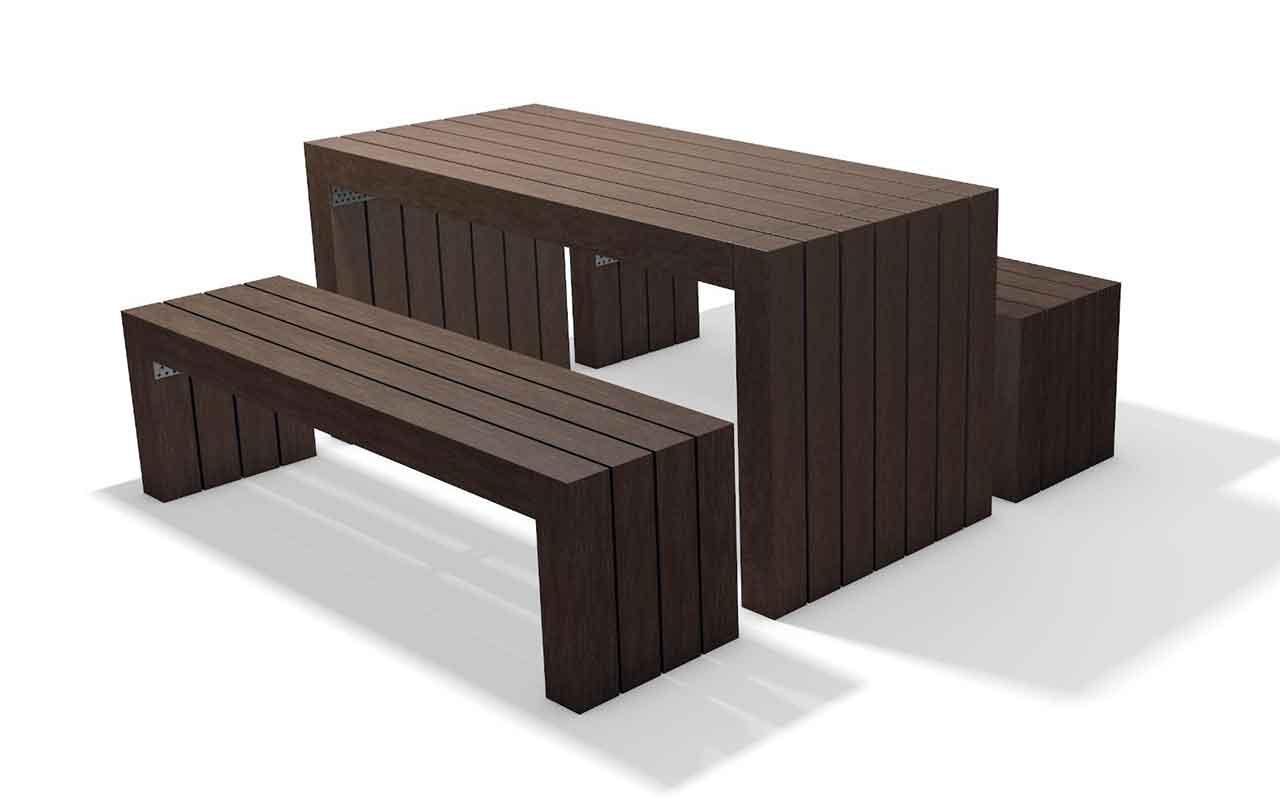 CALERO SET - CALERO SET - Tavoli/Panche in Plastica Riciclata - Tavoli/Panche in Plastica Riciclata