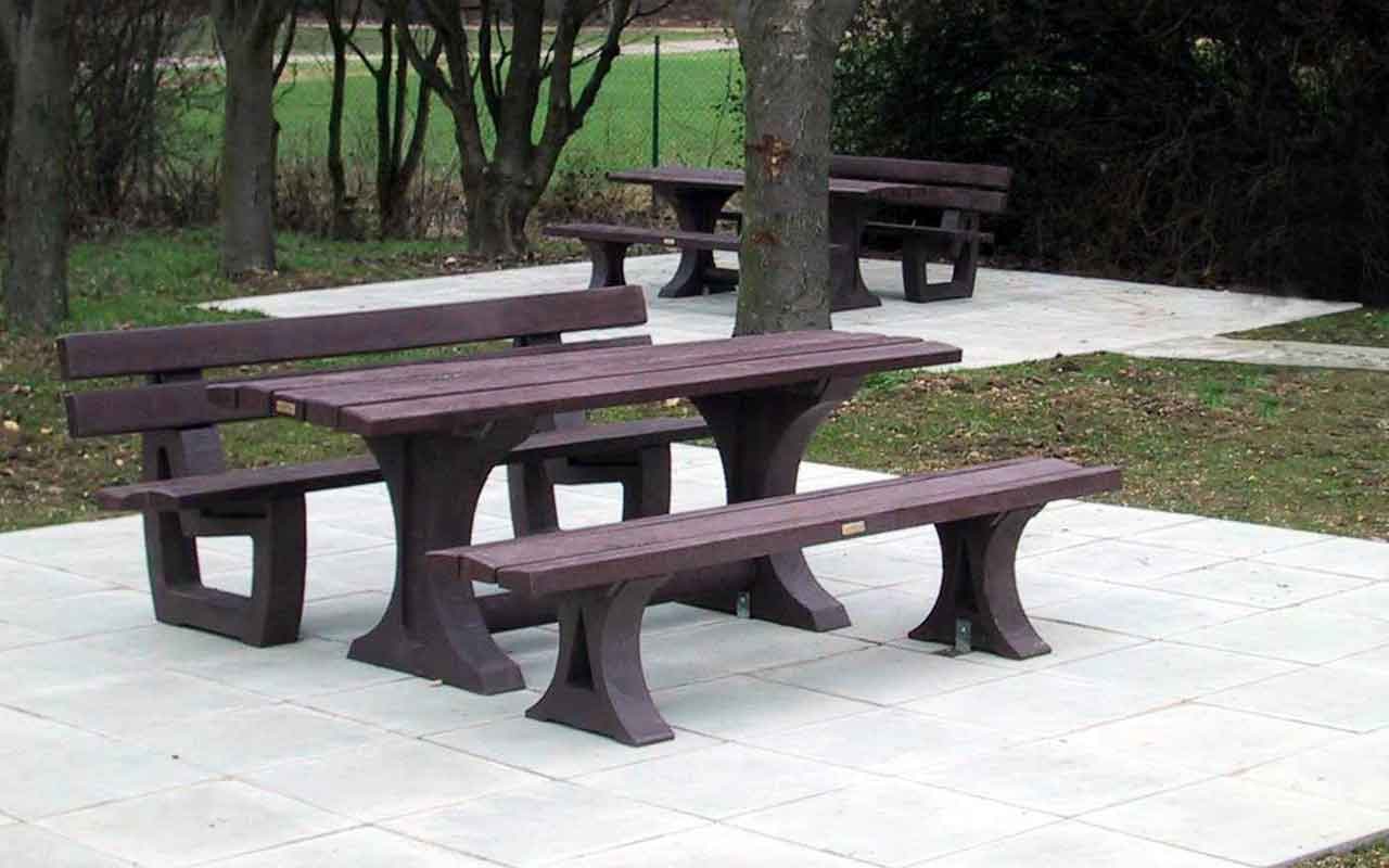 Alton Set - Tavoli/Panche in Plastica Riciclata