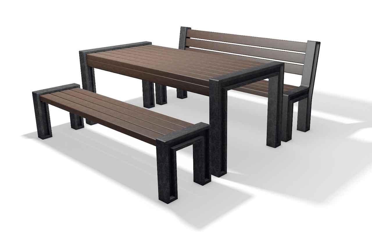 HYDE PARK SET - Tavoli/Panche in Plastica Riciclata