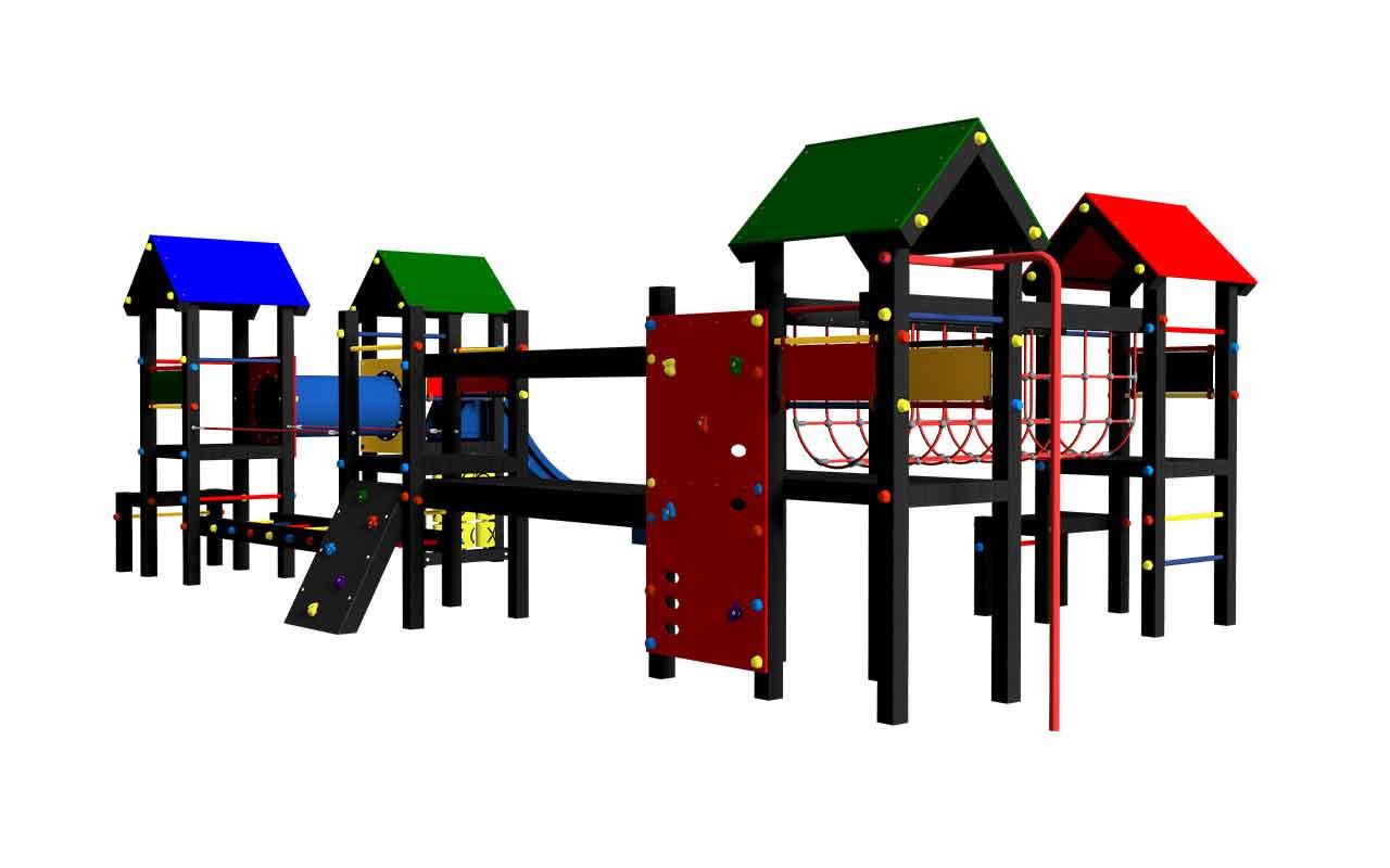 COMBINATO 625 - COMBINATO 625 - Scivoli e Castelli Combinati in Plastica Riciclata - Scivoli e Castelli Combinati in Plastica Riciclata