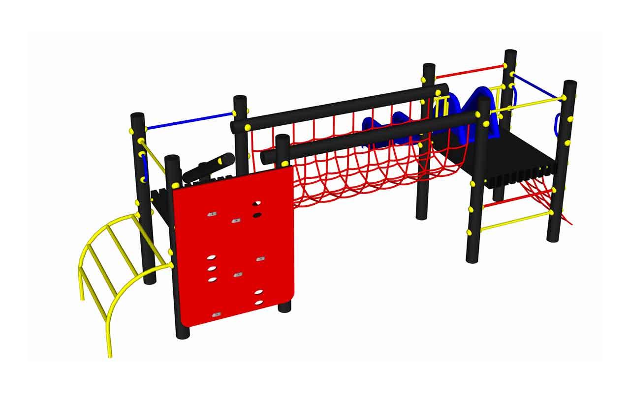 COMBINATO GIUNGLA 363 - COMBINATO GIUNGLA 363 - Scivoli e Castelli Combinati in Plastica Riciclata - Scivoli e Castelli Combinati in Plastica Riciclata