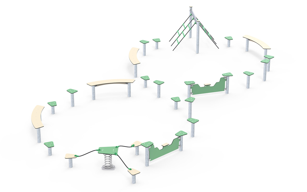 OBSTACLE COURSE EIGHT SIGN SHAPE - OBSTACLE COURSE EIGHT SIGN SHAPE - Fitness per Ragazzi - Fitness per Ragazzi